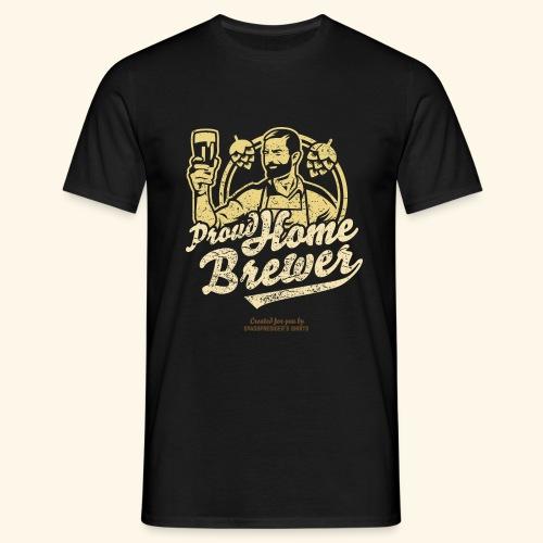 Craft Beer T Shirt Design Proud Home Brewer - Männer T-Shirt