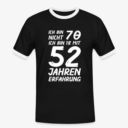 Männer Kontrast T-Shirt Ich bin nicht 70 - Männer Kontrast-T-Shirt
