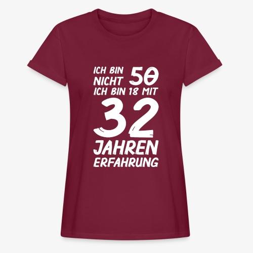 Frauen Oversize  T-Shirt ich bin nicht 50 - Frauen Oversize T-Shirt