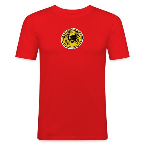 Slim Fit T 2019 Yellow Logo! - Men's Slim Fit T-Shirt