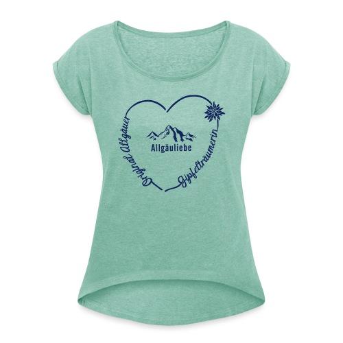 Gipfelträumerin - Frauen T-Shirt mit gerollten Ärmeln