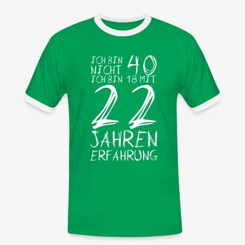 Männer Kontrast T-Shirt Nicht 40 Jahre alt 40.Geburtstag Witzig Lustig - Männer Kontrast-T-Shirt