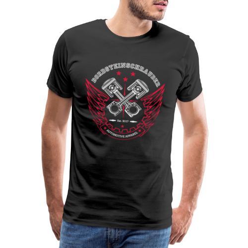 BRDSTN Shirt Kolben Schwarz - Männer Premium T-Shirt