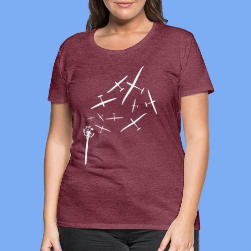Pusteblume Segelflugzeug Segelfliegen - Segelflieger T-Shirt - Women's Premium T-Shirt