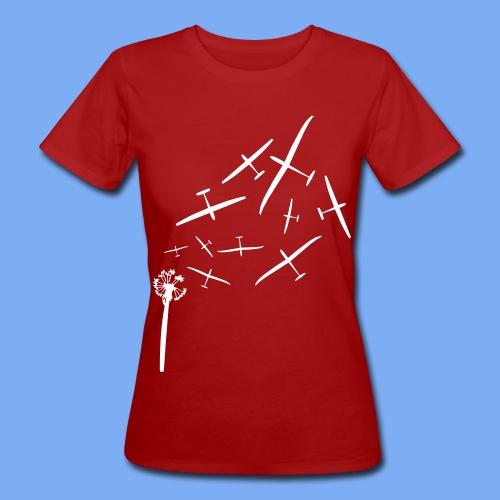 Pusteblume Segelflugzeug Segelfliegen - Segelflieger T-Shirt - Women's Organic T-Shirt