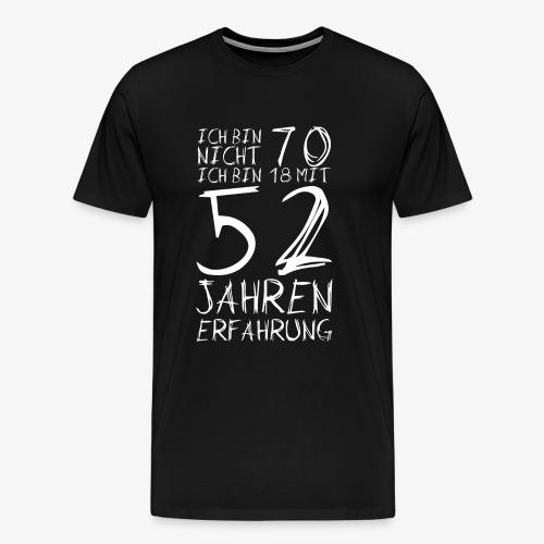 Männer Premium T-Shirt Nicht 70 Jahre alt Witzige Geschenkidee - Männer Premium T-Shirt