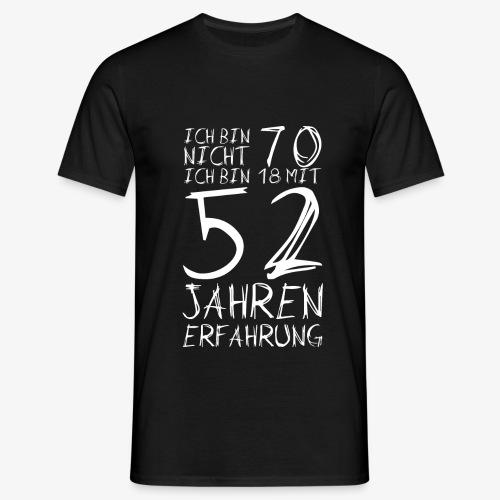 Männer T-Shirt Nicht 70 Jahre alt Witzige Geschenkidee - Männer T-Shirt