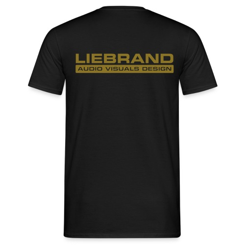 Liebrand Audio Visuals Gold on Black Comfort T - Mannen T-shirt
