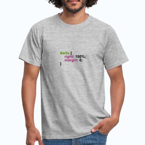 CSS wife - Mannen T-shirt