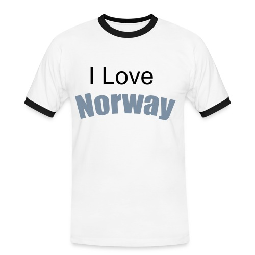 I Love Norway - Kontrast-T-skjorte for menn