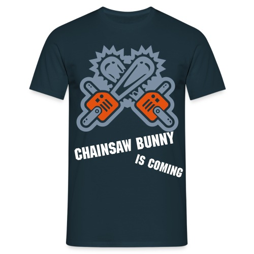 Bad Chainsaw Bunny - Männer T-Shirt