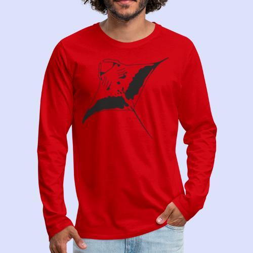 Männer Premium Langarmshirt mit Manta.outline.black - Männer Premium Langarmshirt