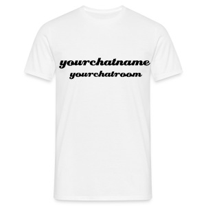 ChatName/ChatRoom - White Top - Men's T-Shirt