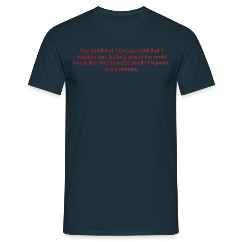 apoc red on blue - Men's T-Shirt