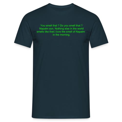apoc green on blue - Men's T-Shirt