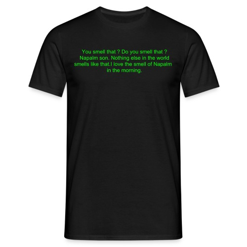 apoc bright green on black - Men's T-Shirt