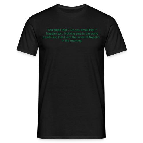 apoc green on black - Men's T-Shirt
