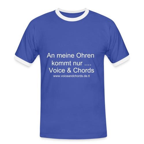 T-Shirt Voice & Chords - Männer Kontrast-T-Shirt