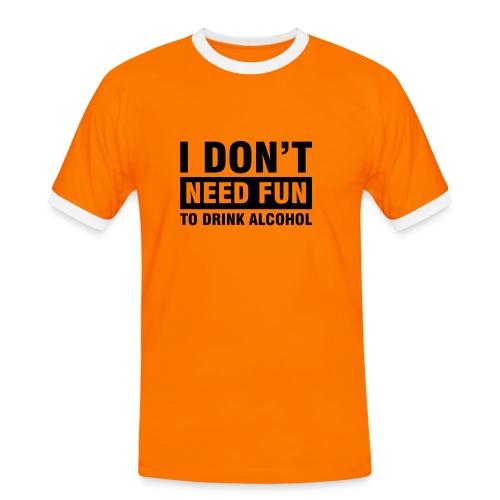 No fun - Maglietta Contrast da uomo