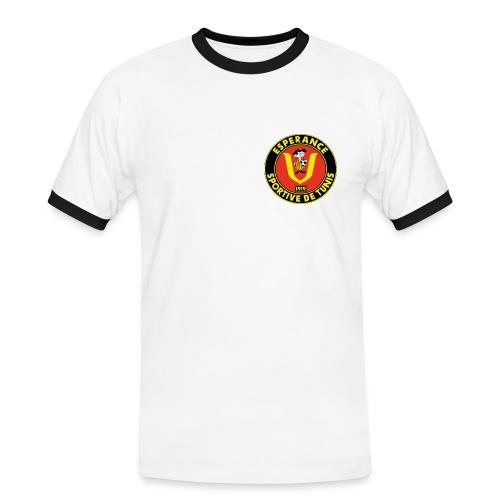 Tshirt avec texte modifiable - T-shirt contrasté Homme