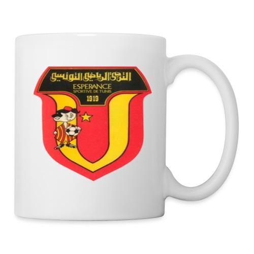 Belle tasse en céramique avec le logo de Espérance Sportive de Tunis  - Mug blanc