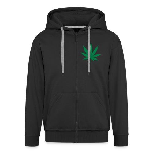 Kannabis - Miesten premium vetoketjullinen huppari