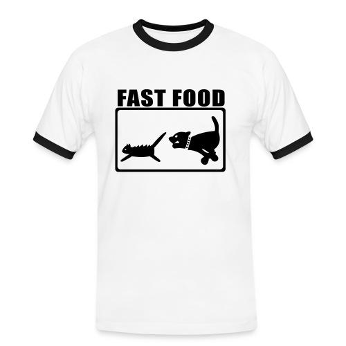 Fast Food T-Shirt - T-shirt contrasté Homme