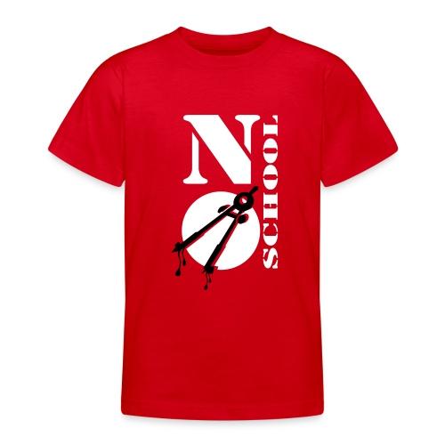 Schule, No School, b/w - Teenager T-Shirt