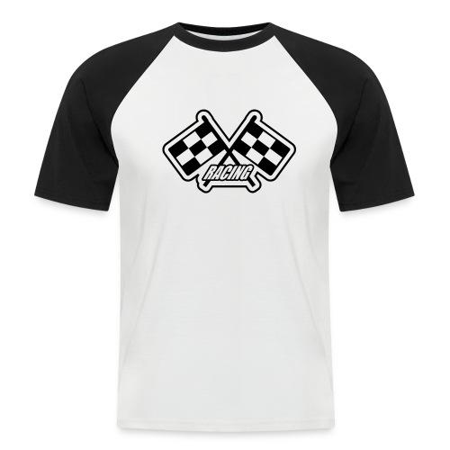 Auto, Racing Flaggen, schwarz - Männer Baseball-T-Shirt