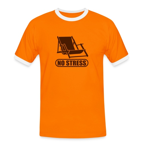 fun, no stress, braun - Männer Kontrast-T-Shirt