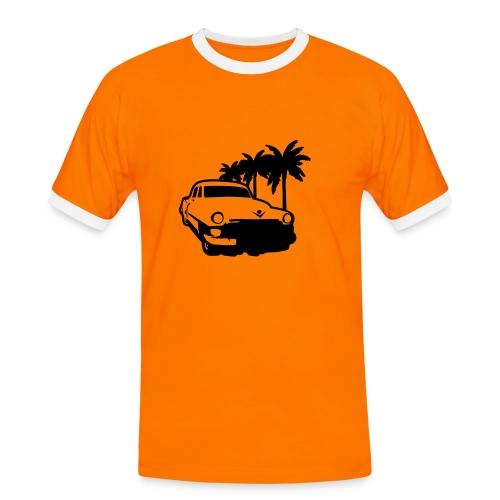 Auto, lowrider, schwarz - Männer Kontrast-T-Shirt