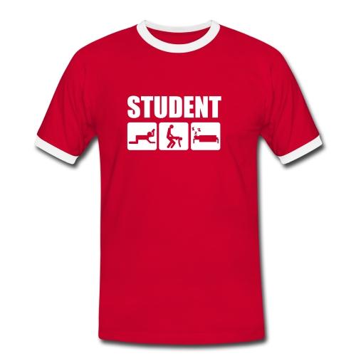T-shirt for menn - Kontrast-T-skjorte for menn