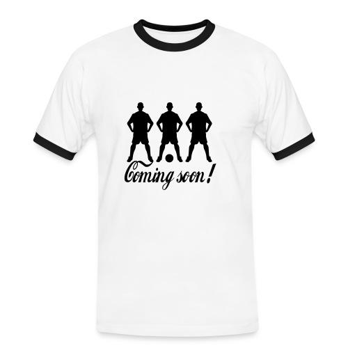 Coming Soon - Männer Kontrast-T-Shirt