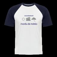 Tee shirts ~ Tee shirt baseball manches courtes Homme ~ T-Shirt mordu de météo homme