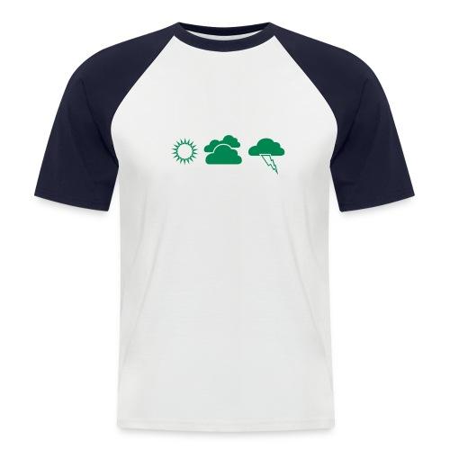 T-Shirt mordu de météo homme - T-shirt baseball manches courtes Homme