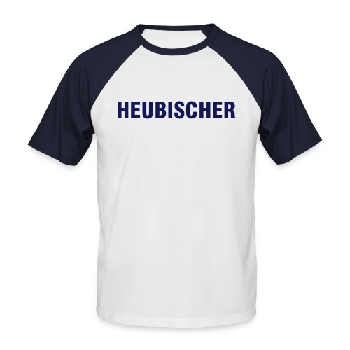 Heubischer Blue Simple - Männer Baseball-T-Shirt