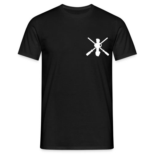 Crossed rods black double - Männer T-Shirt