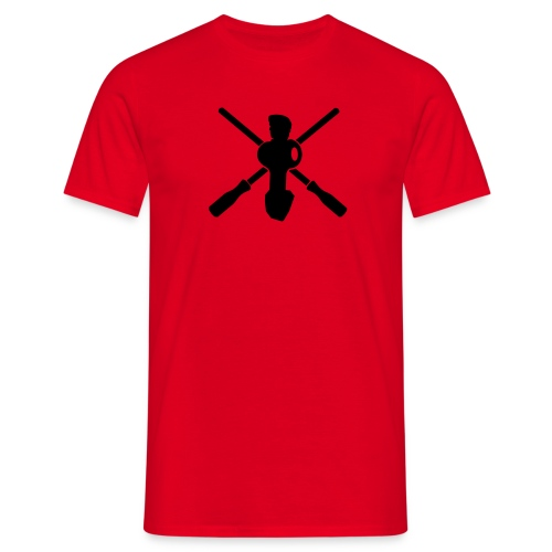 Crossed rods red - Männer T-Shirt