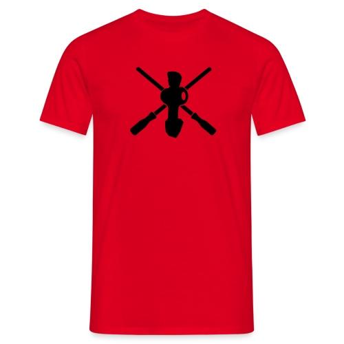 Crossed rods red - Männer T-Shirt