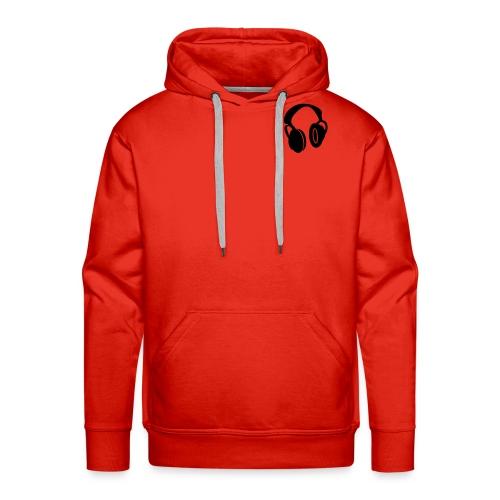 sweat capuch orange headphones elliptik - Sweat-shirt à capuche Premium pour hommes