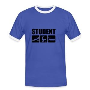 student  - Kontrast-T-skjorte for menn