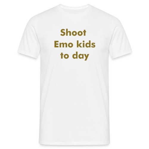 Shoot Emo kids.. - T-skjorte for menn