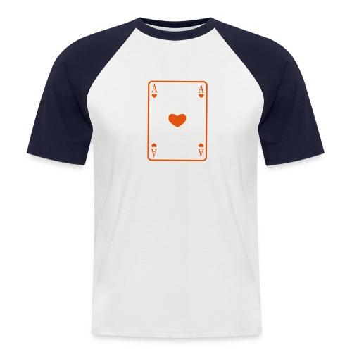 Herzass - Männer Baseball-T-Shirt