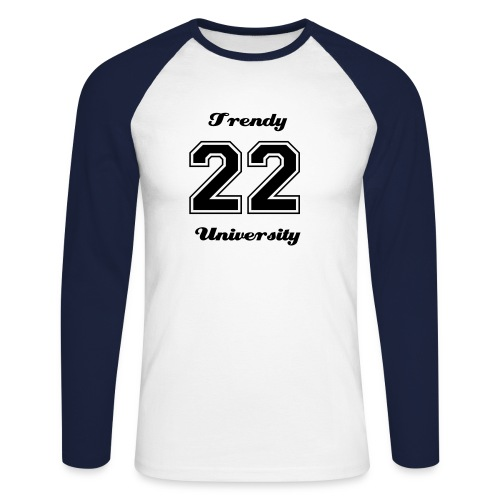 Trendy University manches longues - T-shirt baseball manches longues Homme