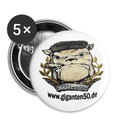 5 Buttons giganten50 - Buttons klein 25 mm