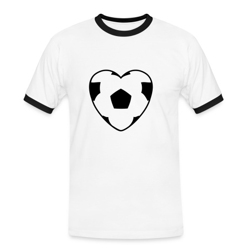 Heart Football T-Shirt - Kontrast-T-skjorte for menn