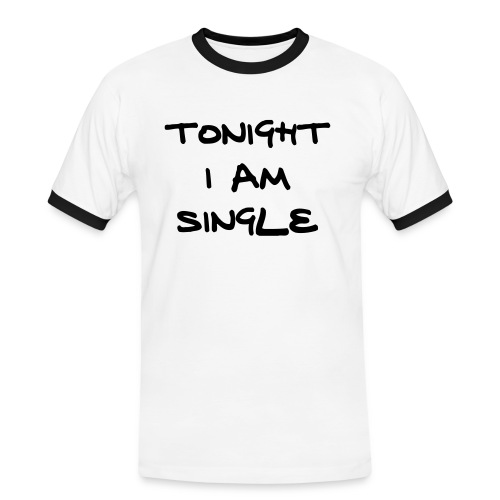 Tonight Im Single - Fun - Mannen contrastshirt