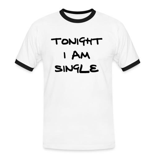 Tonight Im Single - Fun - Mannen contrastshirt