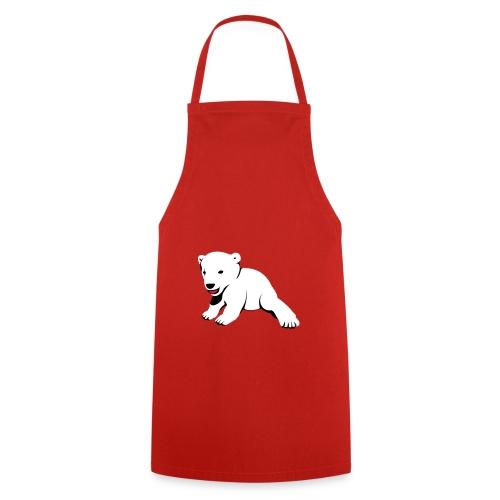 Polarbär auf Grillschürze - Kochschürze