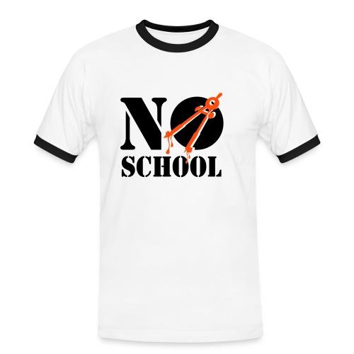 No School T-skjorte - Kontrast-T-skjorte for menn